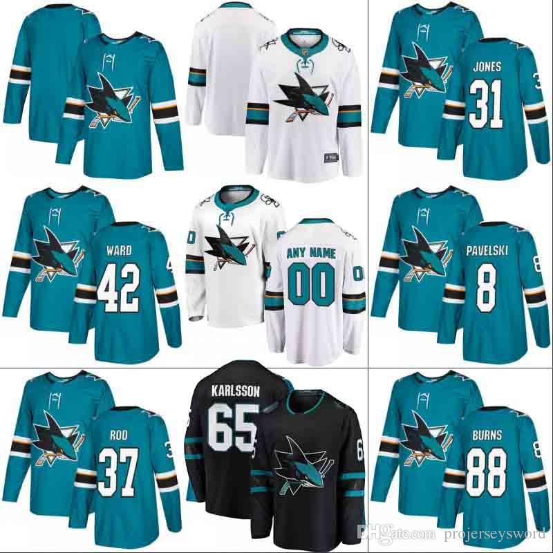 san francisco b866f cd403 #88 Brent Burns Jersey Mens Womens Youth San Jose Sharks 19 Joe Thornton 27  Joonas Donskoi 30 Aaron Dell 42 Joel Ward Hockey Jerseys
