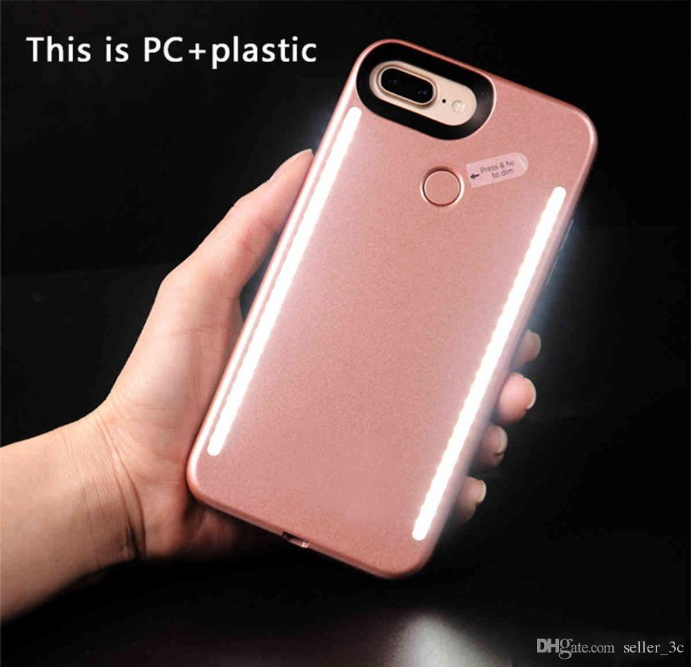 Newest LED Light phone Cases Phone Double Sides Light Battery Case For iphone 7 6 6s plus Note 7 With Retail Package KKA1242