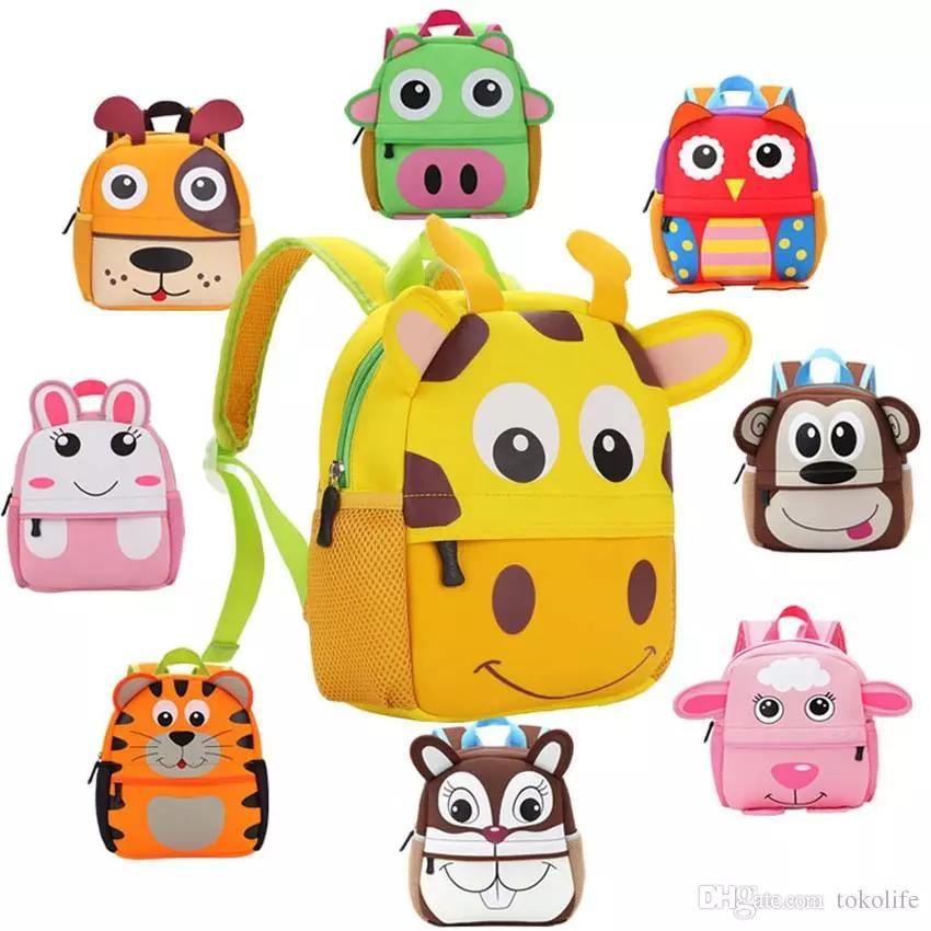 0285548db0 Children Kids Shoulder Bags Boys Grils Cute Cartoon Animals Backpacks Hand Bags  Kids School Bags Baby Kids Satchel Bag 10 Styles Zoo Animals Backpacks For  ...