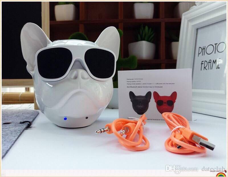새로운 미니 블루투스 스피커 Jarre Aero Bull Nano Dog 무선 스피커 휴대용 스테레오 서브 우퍼 핸즈프리 스피커 IPHONE 8 X 용 AEROBULL