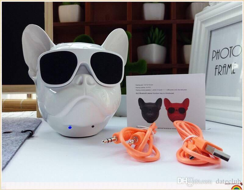 New big dog head bluetooth speaker phone computer wireless low sound gun card stereo DHL