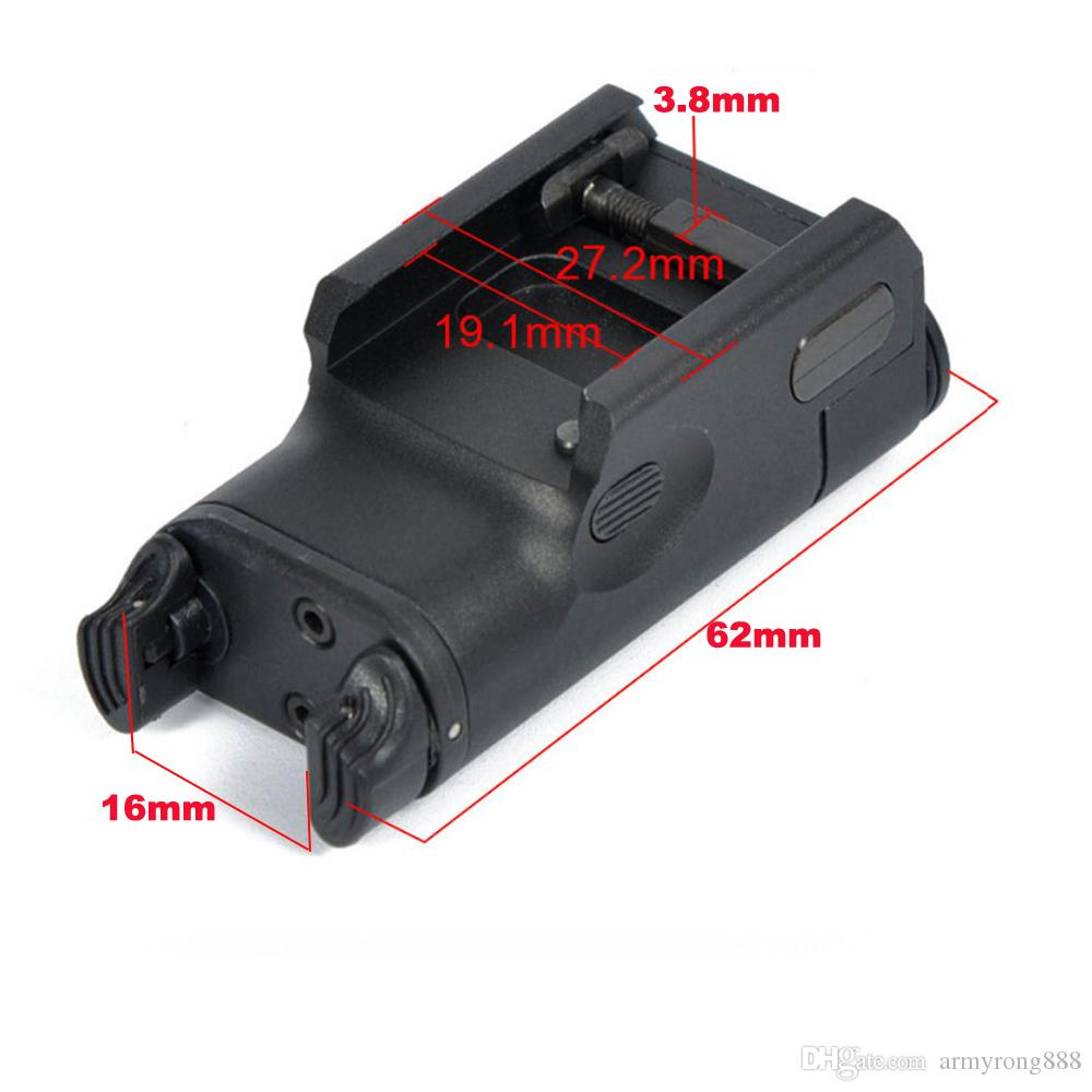 XC2 Laser Light Compact Pistol Flashlight With Red Dot Laser Tactical LED MINI White Light 200 Lumens Airsoft Flashlight
