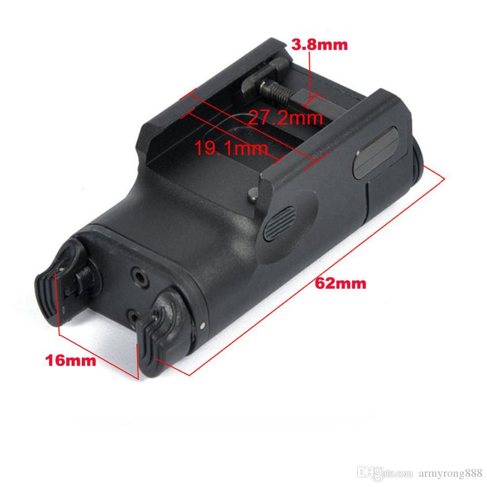 XC2 Laser Light Compact Pistol Taschenlampe Mit Red Dot Laser Tactical LED MINI Weißlicht 200 Lumen Airsoft Taschenlampe