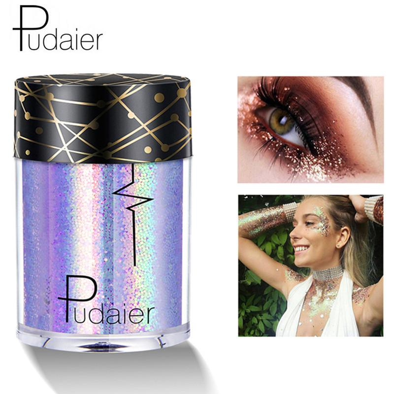 Pudaier Brand Glitter Eye Shadow Cosmetics Makeup Diamond Lips Loose Eyes Pigment Powder Woman Cosmetics Make Up Eyeshadow