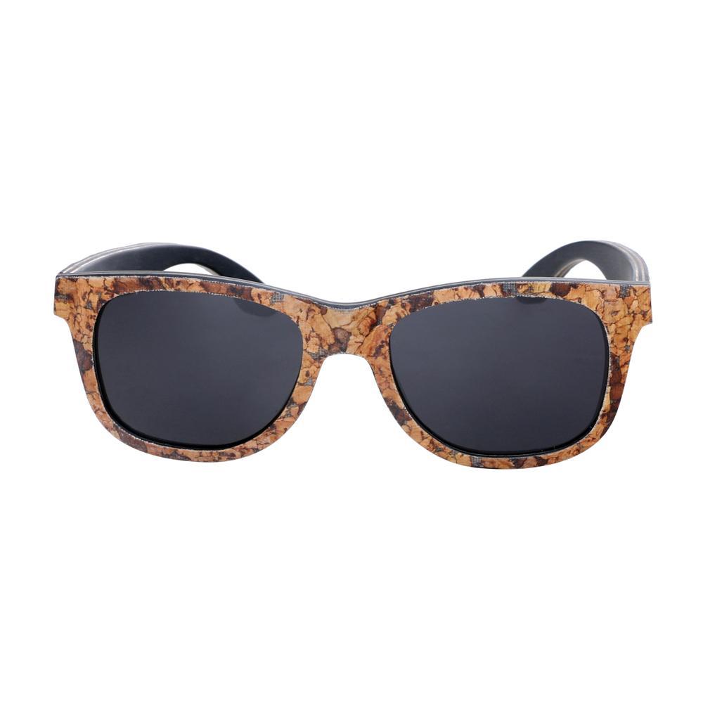 1ed2501a60a8e Compre Atacado Óculos De Sol De Madeira Moldura De Cortiça Polarizada Óculos  De Sol Proteção UV Oculos De Sol Feminino Com Óculos De Sol De Cortiça Caso  De ...