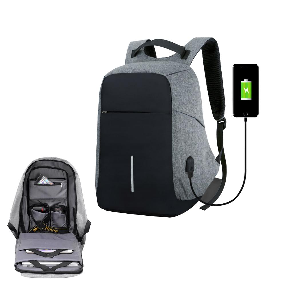 c275621d98f9 USB Charge Anti Theft Waterproof Men s Business Backpack Women Travel Bag  Male Security 15 Inches Laptop Teenager Big School Bag
