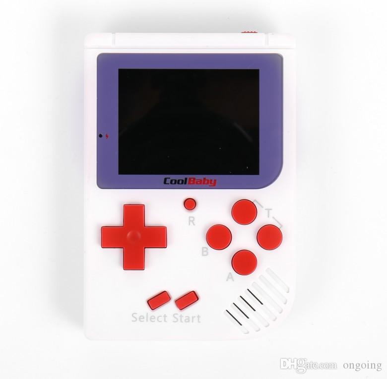 CoolBaby RS-6 Portable Retro Mini Handheld Game Console 8 bit Color LCD Game Player For FC Game DHL