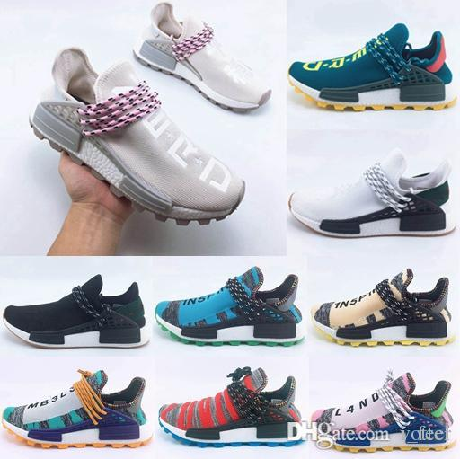 3855036e9 2018 New Homecoming Creme X NERD Solar PacK Human Race Running Shoes  Pharrell Williams Hu Trail Trainers Men Women Runner Sports Sneakers Men  Shoes On Sale ...