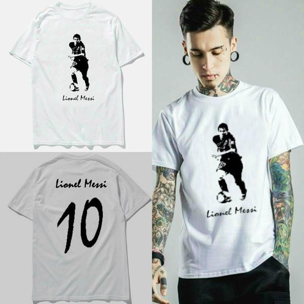 Lionel Messi Barcelona Football Soccer Jersey Men S Summer Fashion Printed  Short Sleeve T Shirt Deal With It T Shirt Ts Shirts From Judeeee 10444395d