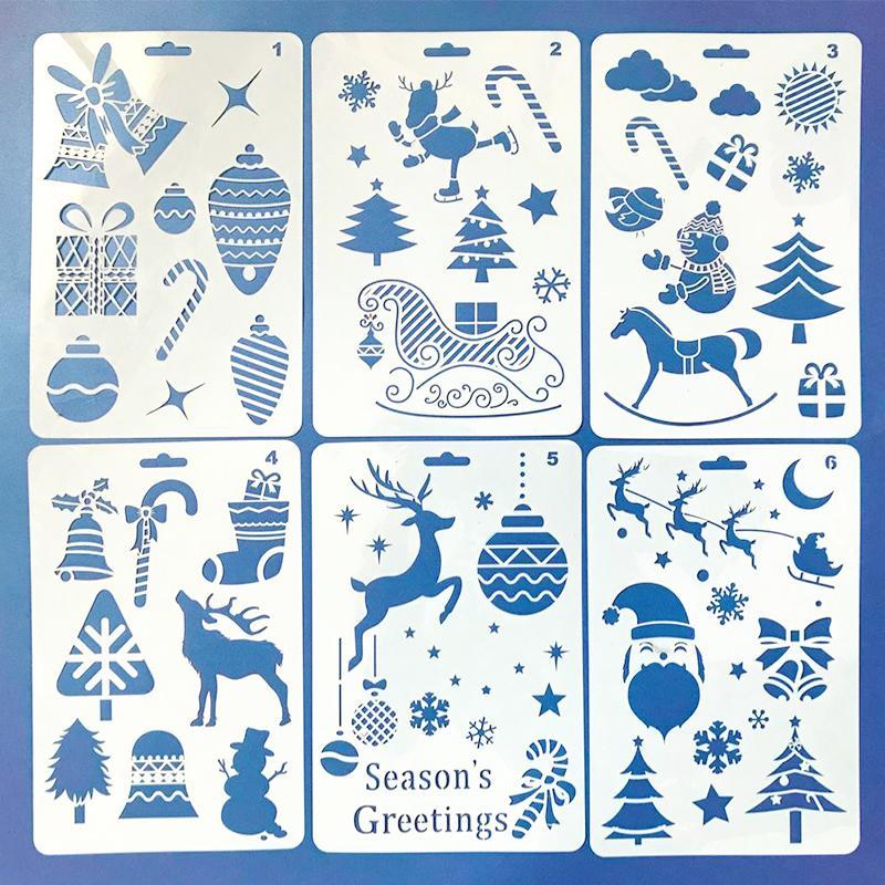 Großhandel 1 Satz Weihnachten Diy Zeichnung Vorlagen Für Kinder