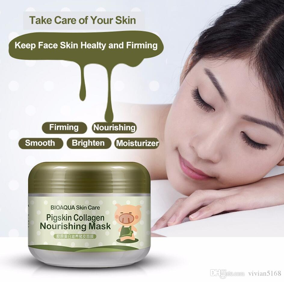BIOAQUA little Pig Pigskin Collagen Nourishing Mask Carbonated Bubble Clay Mask Moisturizing Brighten Skin Care Set DHL