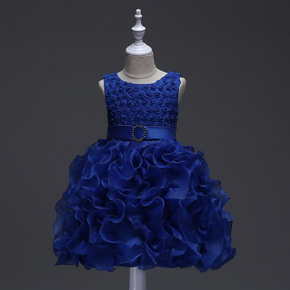 2018 Newborn Baby Royal Blue Ball Gowns Toddler Short Party Baptism ...