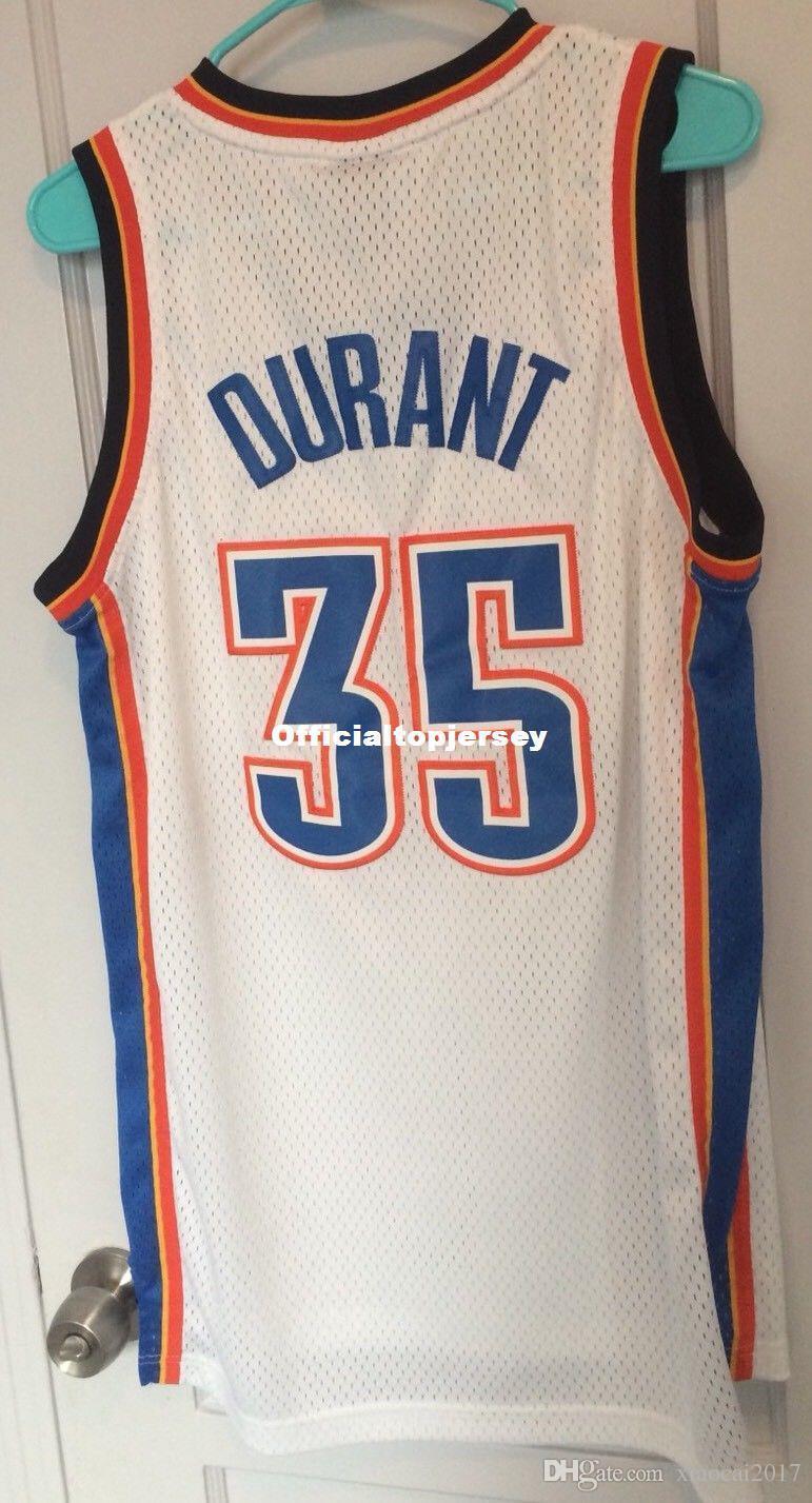 Cheap Wholesale Retro Kevin Durant 35  Jersey Men KD White Home T-shirt  Vest Stitched Basketball Jerseys Cheap Kevin Durant Jersey Oklahoma City  Durant Jers ... 21c6bb9b0