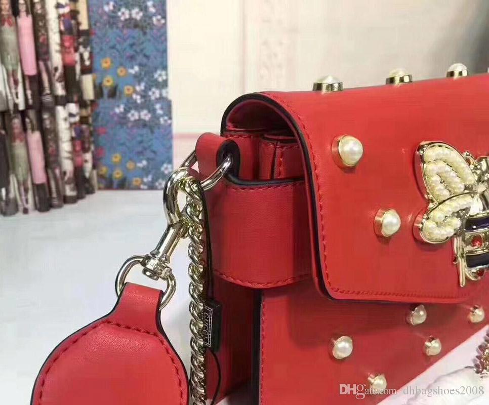 Bayanlar kadınlar deri marka casual kılıf çift mektup kişilik çanta Ünlü Tasarımcılar Marka alışveriş çantası omuz çantası kılıf # 453778