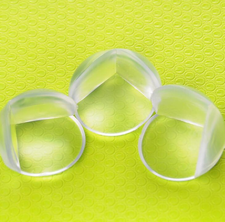 Round Corner Protectors Corner Cushions For Glass Tables Or Shelves With 3M Sticker Baby Safe free