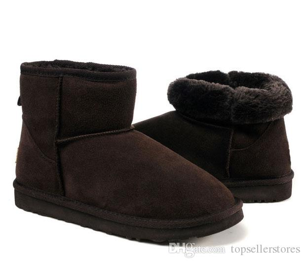Christmas Boots For Girls.Winter Snow Mini Boots Women Warm Classic Boot Christmas Girls Minis Shoes Australia Female Chestnut Brown Black Sand For Sale
