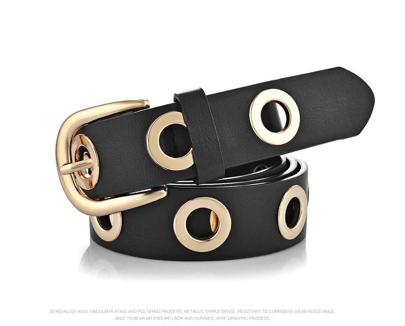 f5b99e549914 Acheter Mode Ceintures Pour Femmes Oeillets Duo Style Euramericain Pu  Designer Bracelet En Cuir Pour Dames Accessoires Jeans De  6.04 Du  Creativebar ...