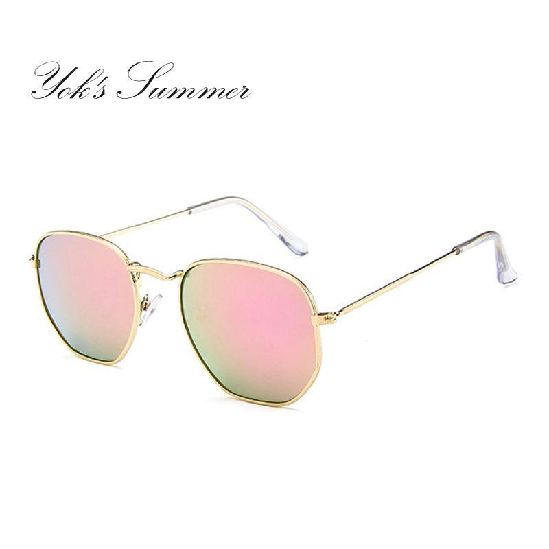 9a0a9edac7 Compre Yok's Premium Espejo Gafas De Sol Modernas Mujeres Moda Hippie Metal  Gafas De Sol Delgadas Geométricas Polígono Gafas Decoración WL016 A $11.17  Del ...