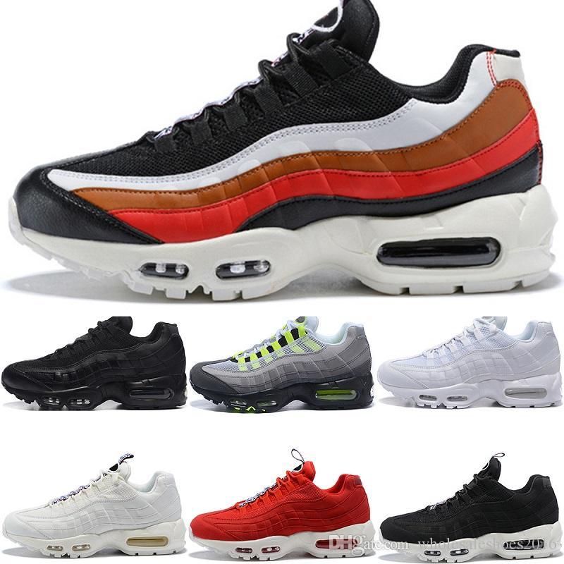 online retailer 10dfb 20b45 2018 Men Designer 95 Running Shoes What The OG Grape Neon TT Black Red 95s  Mens Trainers Sports Sneakers Size 7-11