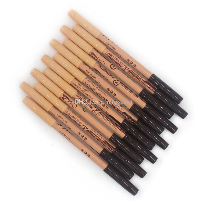 Menow Kaş Eyeliner Kalemler Kozmetik 2 in 1 Makyaj Göz Kaş Kalemler + Kapatıcı Sopa Kalem Süper Kapsama 3 Renkler 12 adet / grup maquillaje