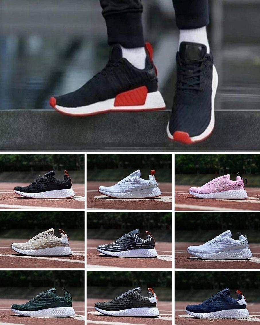 120ede5b6c028 2019 NMD Runner R1 R2 Pk Mesh Triple White Black Blue Pink Men Women  Running Shoes Sneakers Fashion NMD Runner Primeknit Sports Shoes 36 45 From  Solebox