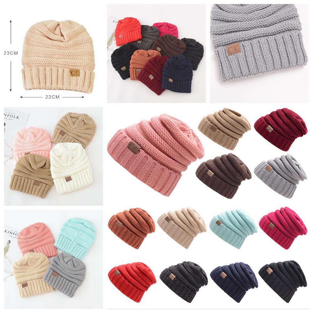 Großhandel 17styles Cc Stricken Wolle Häkeln Hüte Herbst Winter