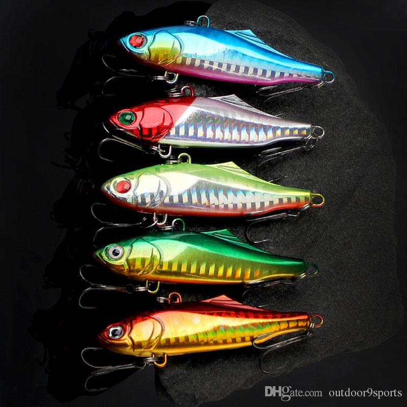 New 3D Eyes VIB Laser Fishing Lure 7cm 24g Colorful Hard Body Deep Diving Artificial Bait