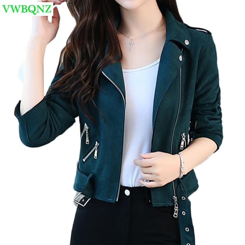 63e9bcaf5e2 Spring Autumn New Plus Size Women Coat Jacket Retro Women S Short Top Coats  Female Korean Loose Zipper Cardigan Coats 4XL A777 Vintage Leather Jackets  ...