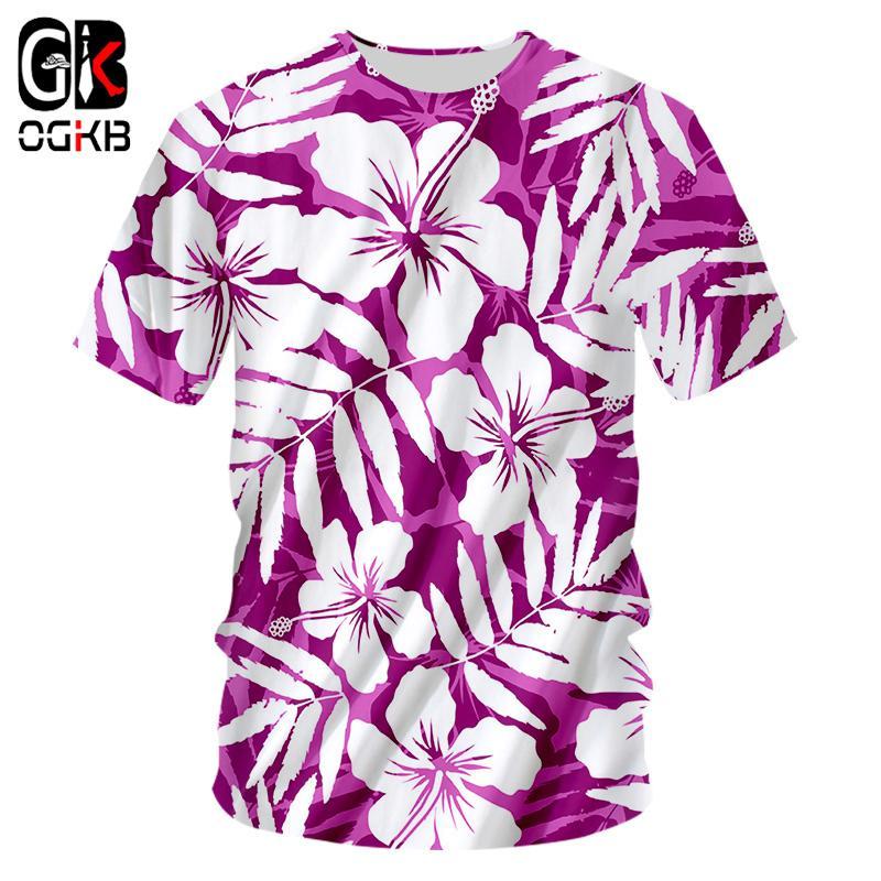 17890e1d704d OGKB Space Tshirts Men Fashion Print Purple Flower 3D T Shirts Man Hip Hop  Streetwear Casual Short Sleeve Crewneck Tee Shirts Best Site For T Shirts  Funny T ...