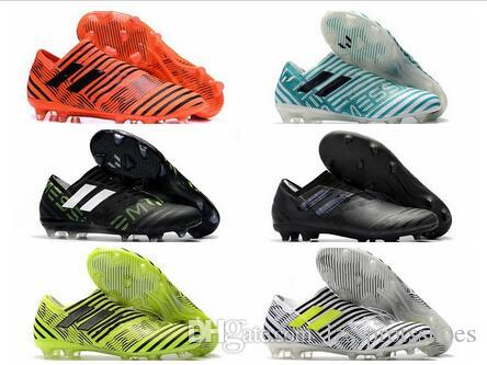 038b6f29e 2019 2018 Original Soccer Cleats Nemeziz 17 360 Agility FG Mens Soccer  Shoes Cheap Leather Football Boots Low Top Scarpe Da Calcio Golden New From  ...