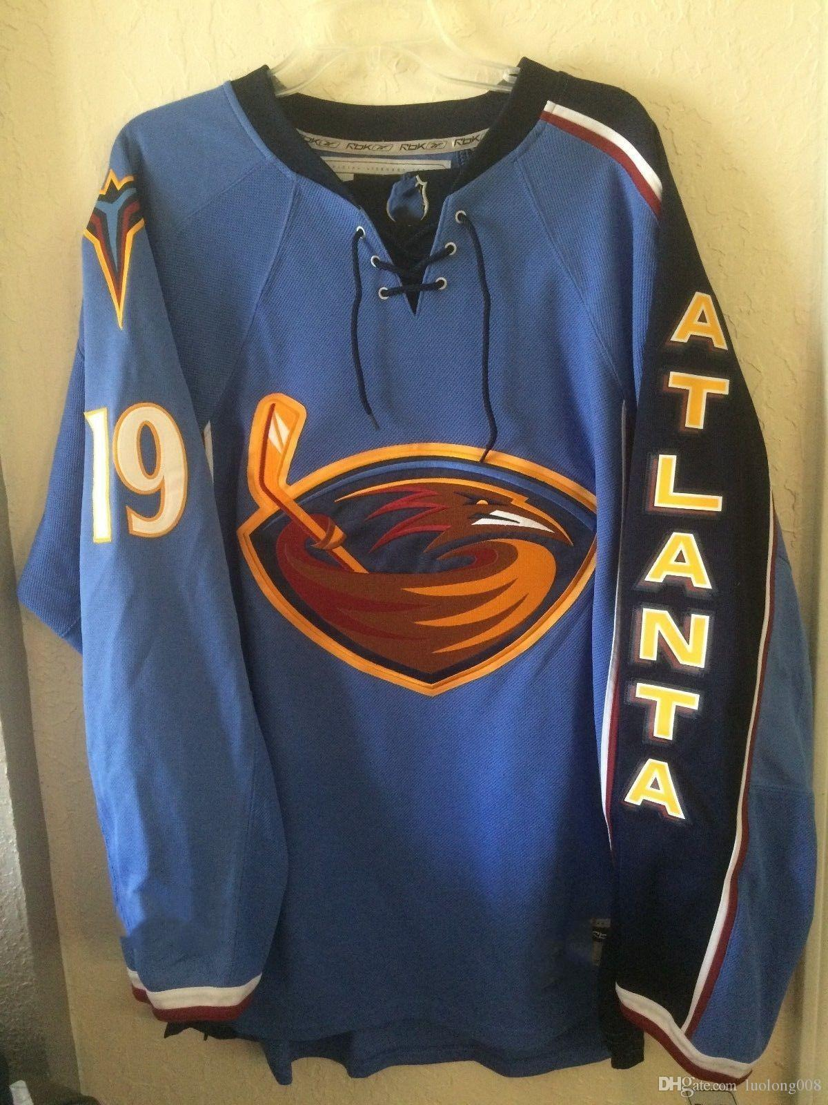 e1198036c9d1 2019 Vintage Atlanta Thrashers  19 Fredrik Modin HOCKEY JERSEY Embroidery  Stitched Customize Any Number And Name Jerseys From Luolong008