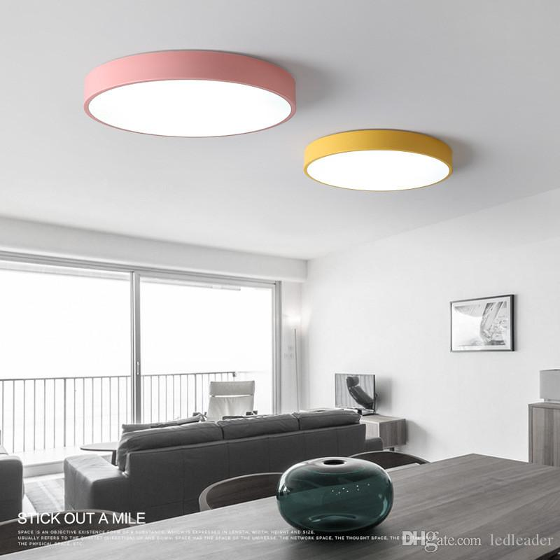 2019 Nordic Round Led Bedroom Ceiling Lamp Ultra Thin Simple Modern Rh  Dhgate Com Modern Bedroom
