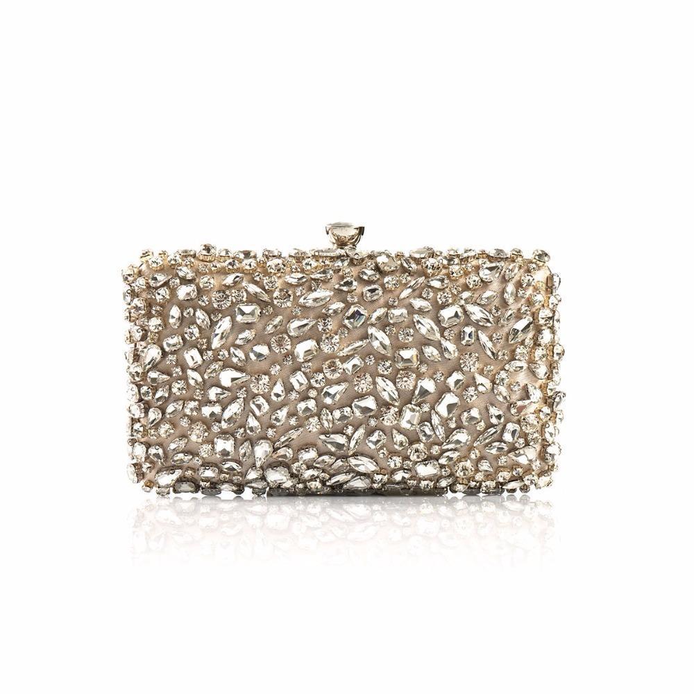 2018 Luxury Women Evening Bags Fashion Shiny Diamond Evening Clutch Women  Brand Party Bridal Box Shoulder Bag Clutches Chain Y18103004 Brown Handbags  Latest ... 83cf2d0d1f4c