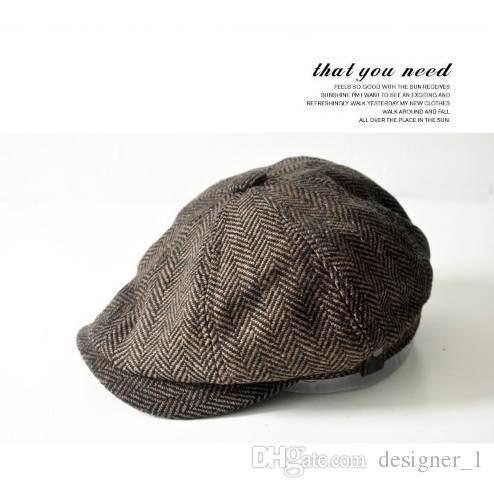9ed16e631c3 Fashion Herringbone Tweed Gatsby Newsboy Cap Men Wool Ivy Hat Golf Driving  Flat Cabbie Flat Unisex Berets Hat Beret Caps Beret Hats Fashion Hats  Online with ...
