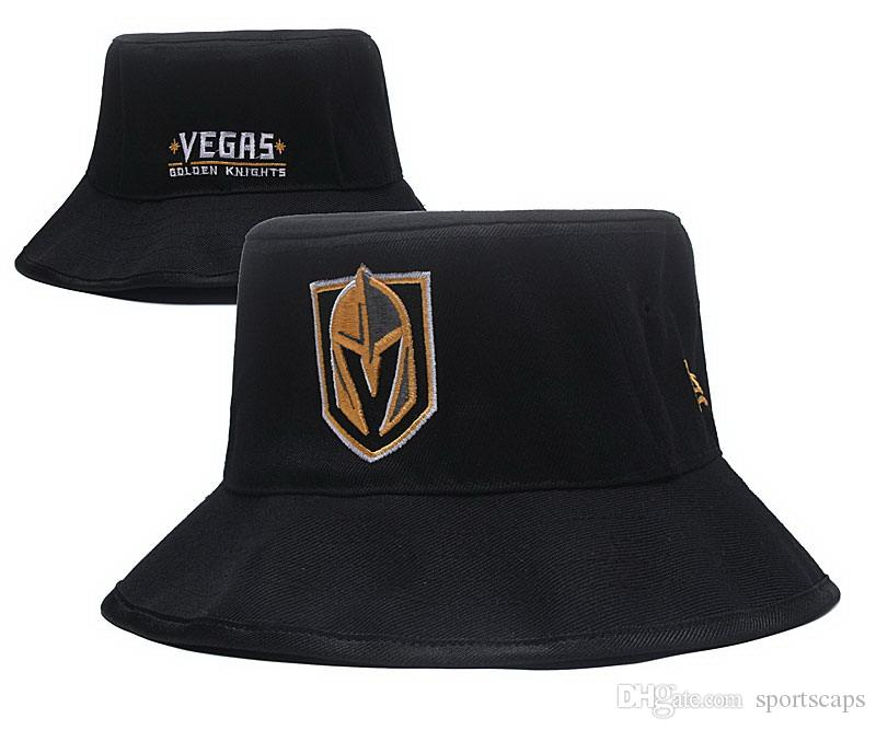 4a286c2bb4a 2018 Newest Vegas Golden Knights Bucket Hats High Quality Ice Hockey Caps  Black Color Team Snapbacks Cap Drop Shipping Custom Fitted Hats Design Your  Own ...