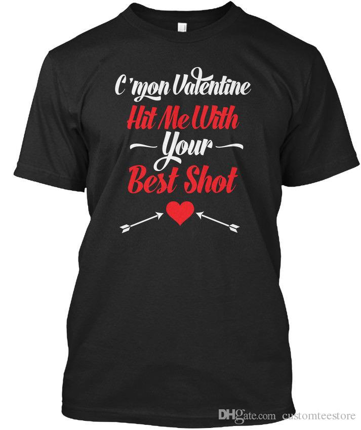 2449115bf Custom Valentines Day Standard Unisex T Shirt S 3XL T Shirt For Men Fashion  Short Sleeve Crewneck Cotton Plus Size Group Tshirt Coolest Tees Awesome Tee  ...