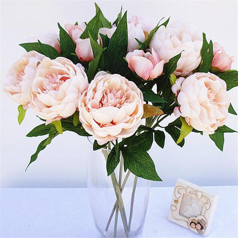 Grosshandel 10 Teile Los Kunstliche Pfingstrose Blumenstrauss