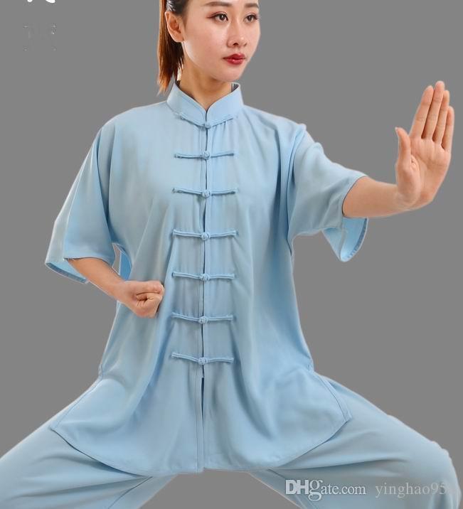 Тай Чи одежда с короткими рукавами хлопок плюс мужчины и женщины утренняя гимнастика боевых искусств одежда @@ 19