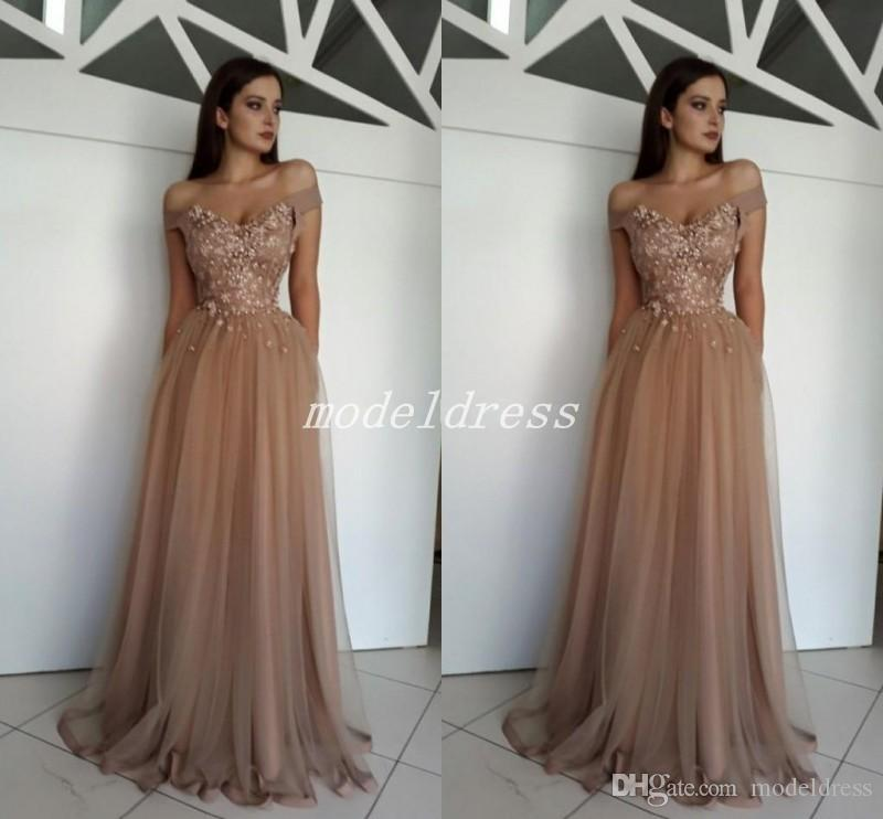72676559bf4 2018 Champagne Prom Dresses Off Shoulder Backless Sweep Train Appliques Beaded  Long Formal Evening Party Gowns Vestidos De Fiesta Uk Prom Dresses White  Prom ...