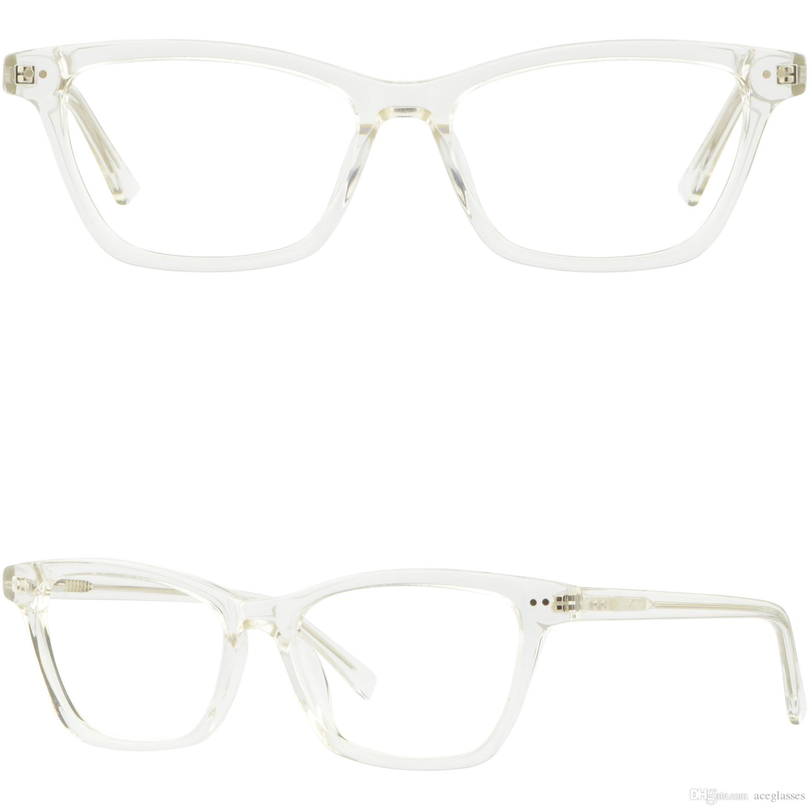 Large Womens Plastic Frames Spring Hinges Prescription Glasses Clear ...