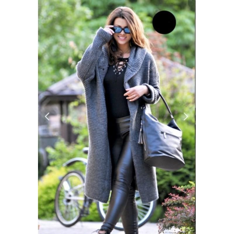ca7bc1bec1d 2019 2018 New Women Plus Size Hooded Cardigans Solid Casual Sweater Long  Sleeve Knitted Long Sweaters From Eventswedding