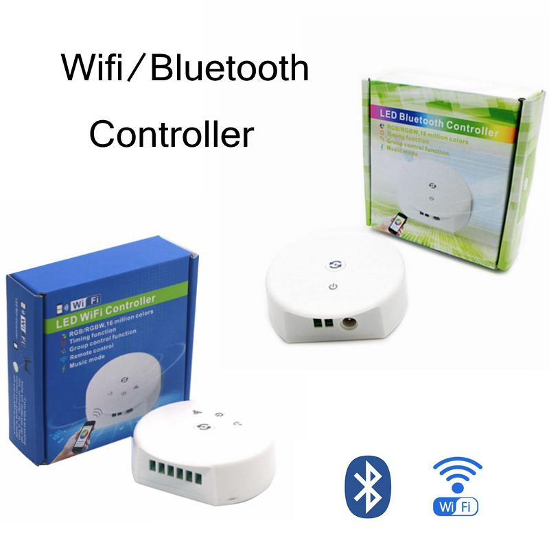 Edison2011 DC 12V-24V Mini UFO Bluetooth/WiFi LED RGB RGBW Controller IOS  Android APP Timer Music LED Controler for 3528 5050 LED Strip