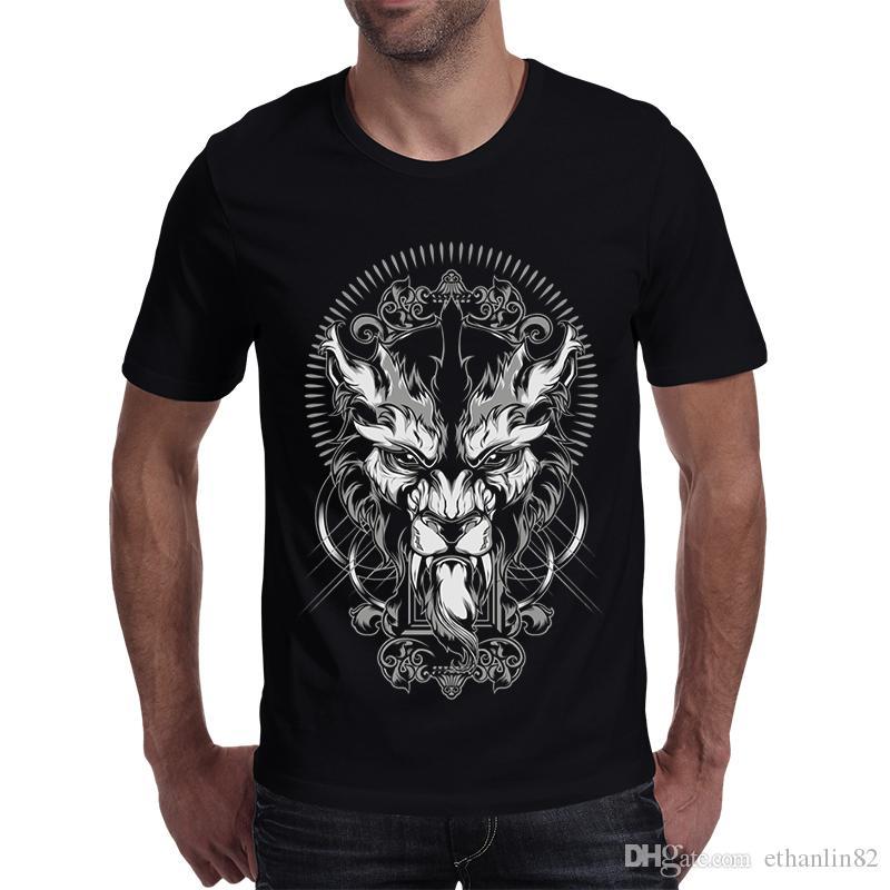 3767a7a4e2e7 2018 New Fashion 3d Dragon T Shirt Brand Clothing Hip Hop Print Men T Shirt  Short Sleeve Anime High Quality T Shirt Men T Shirt Logos Trendy T Shirts  From ...