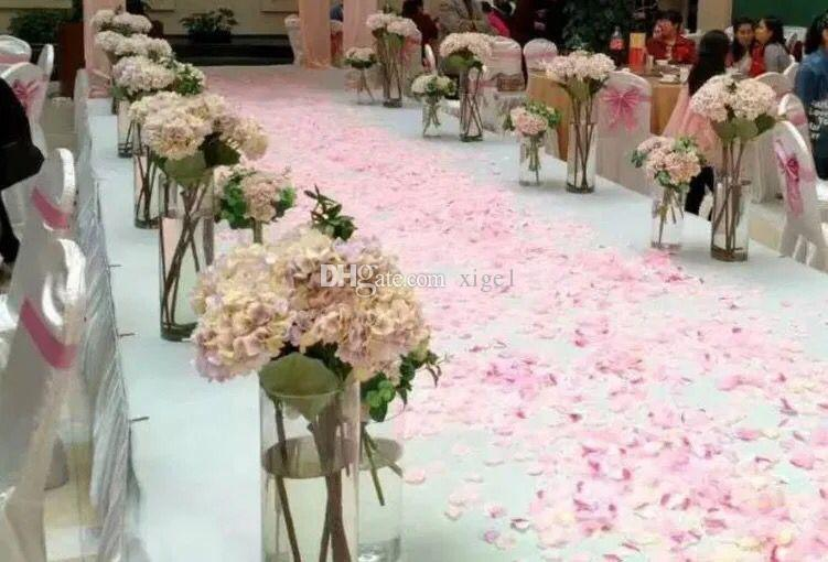 /lotNew Arrival Acrylic Cylinder Vase Clear Round Plastic Wedding Table Flower Stander Road Lead T-Stage Table Centerpiece
