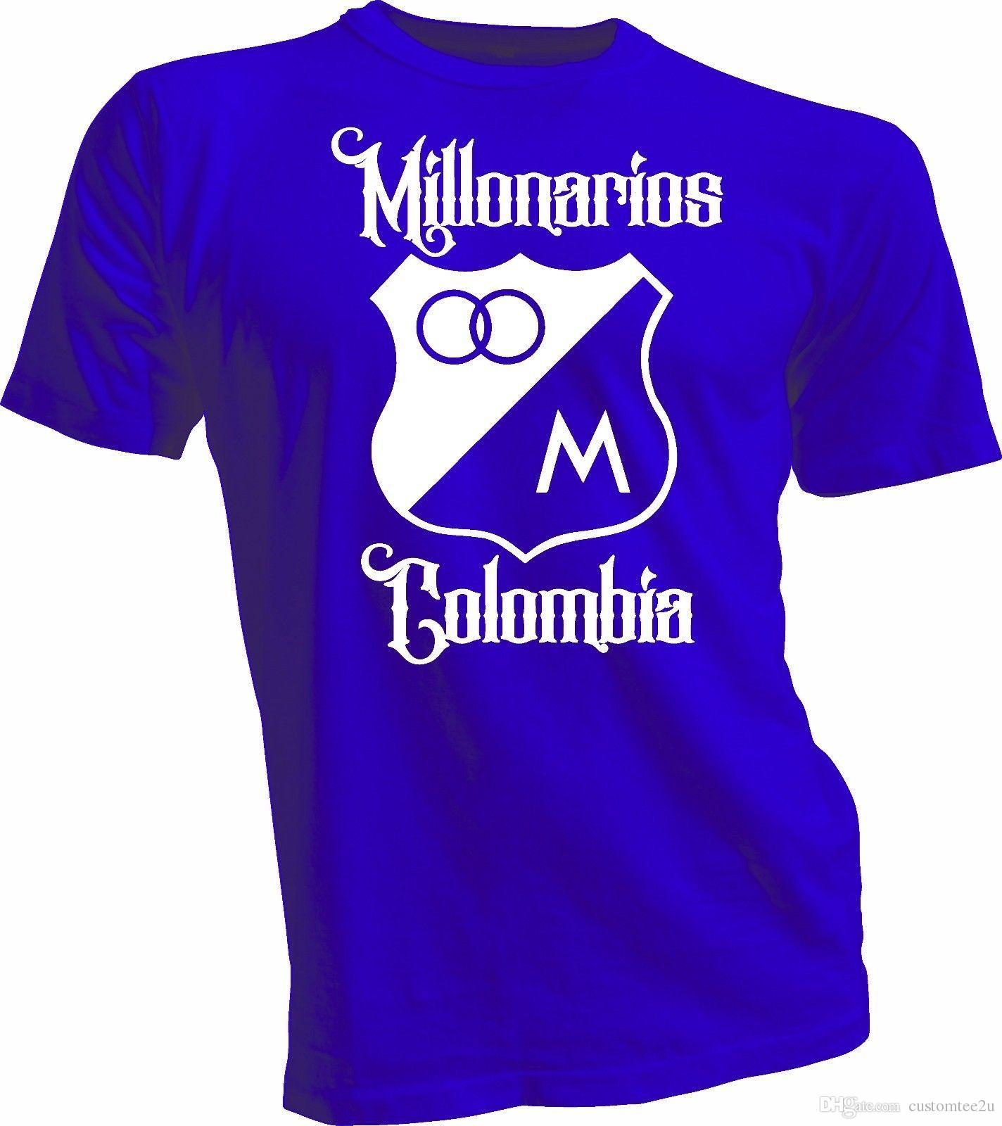 098851c0e5793 Compre Millonarios Futbol Club Colombia Camiseta De Fútbol Camiseta  Postobon Millos Jersey Camiseta Para Hombre Diseñador En Línea De Manga  Corta ...