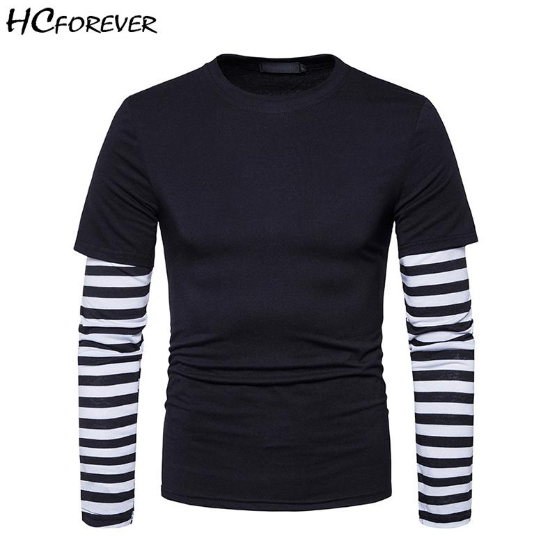 Para Camisetas Streetwear Gris Manga Rayas Rosa Camiseta Negro Larga Moda Hip Hombre Casual Ropa Tops Hop dCxoBeWr