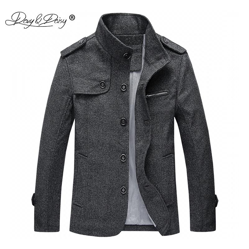 1854ca2a502 2019 DAVYDAISY New Arrival Fashion Men S Wool Coat Men Winter Jacket Man  Business Casual Brand Clothing Slim Autumn Overcoat JK066 C18110601 From  Linmei0006 ...