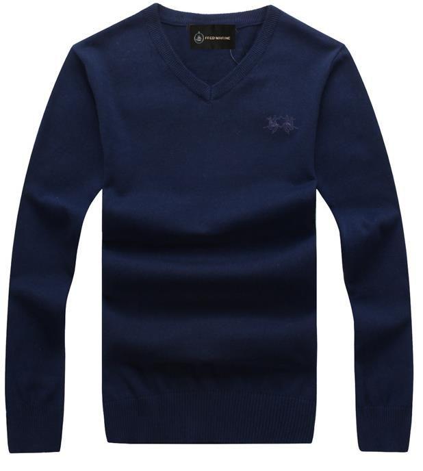 La biancheria intima M-3XL del cotone del maglione del collo a V degli uomini del maglione del knit degli uomini britannici di esplosione libera il trasporto Trasporto libero