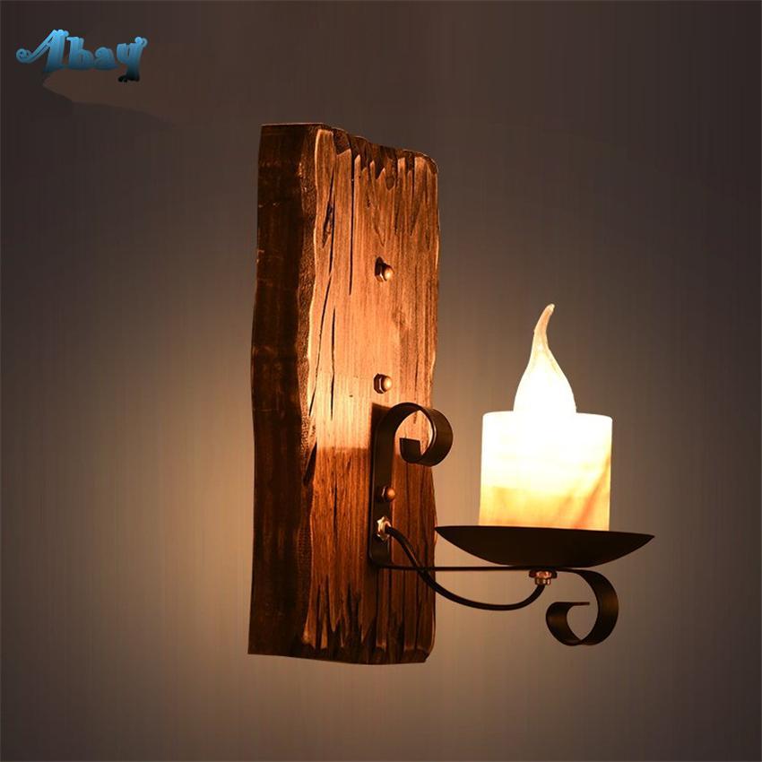 Grosshandel Loft Candle Stick Scones Wandleuchten Wohnzimmer