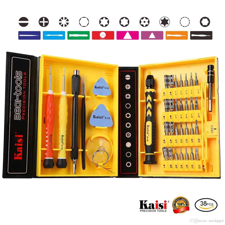Kaisi multiuso 38 in 1 cacciaviti di precisione Kit di apertura del telefono Strumenti di riparazione Set iPhone 4 / 4s / 5/6/7/8 più iPad Samsung